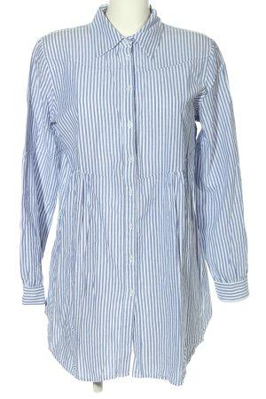 Yessica Blusa-camisa azul-blanco estampado repetido sobre toda la superficie
