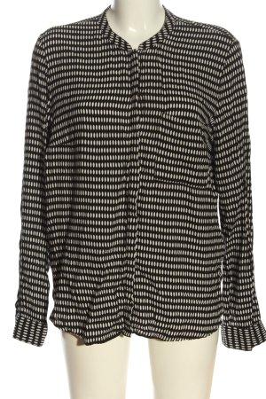 Yessica Camicia blusa nero-bianco sporco stampa integrale stile casual