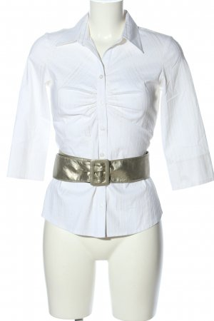 Yessica Hemd-Bluse weiß-silberfarben Streifenmuster Business-Look