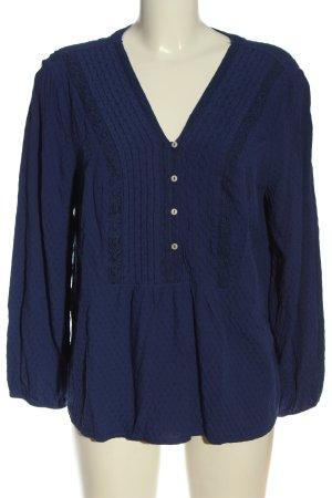 Yessica Camicia blusa blu motivo a pallini stile casual