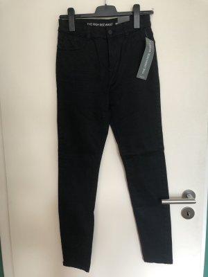 Yessica Hoge taille jeans zwart