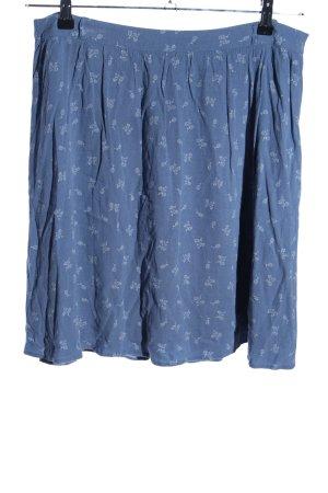 Yessica High Waist Rock blau-weiß Allover-Druck Casual-Look