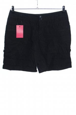 Yessica High-Waist-Shorts schwarz Casual-Look