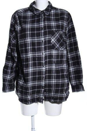 Yessica Lumberjack Shirt black-white allover print casual look