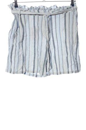 Yessica Hot Pants hellgrau-blau Streifenmuster Casual-Look