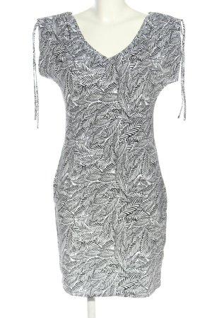 Yessica Jerseykleid weiß-schwarz Allover-Druck Casual-Look