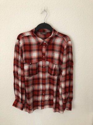 Yessica Long Sleeve Shirt white-red