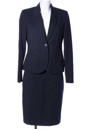 Yessica Kostüm schwarz Streifenmuster Business-Look