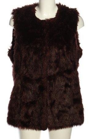 Yessica Gilet en fausse fourrure brun style décontracté