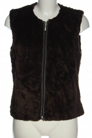 Yessica Kamizelka ze sztucznym futrem brązowy W stylu casual