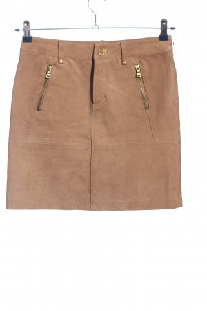Yessica Faux Leather Skirt brown casual look