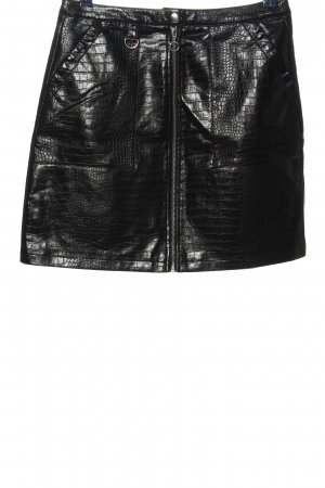 Yessica Faux Leather Skirt black casual look