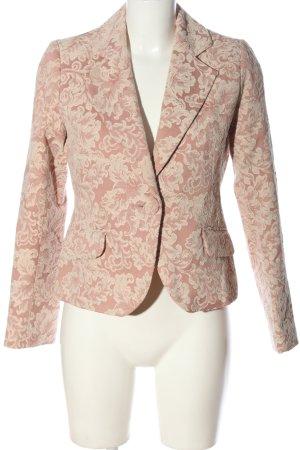 Yessica Kurz-Blazer pink-creme Allover-Druck Casual-Look