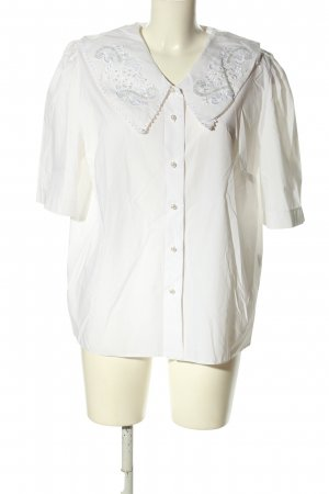 Yessica Kurzarm-Bluse weiß Casual-Look