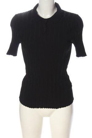 Yessica Blouse à manches courtes noir style décontracté