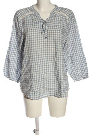 Yessica Camicetta a maniche corte bianco-blu motivo a quadri stile casual