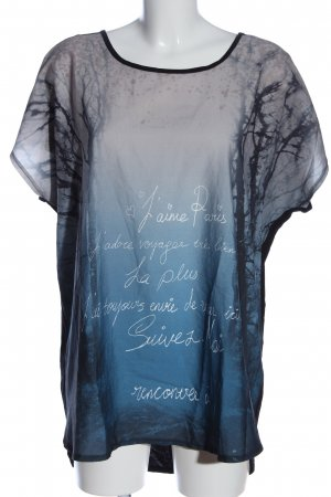 Yessica Kurzarm-Bluse Motivdruck Casual-Look