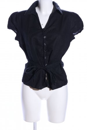 Yessica Kurzarm-Bluse schwarz Business-Look