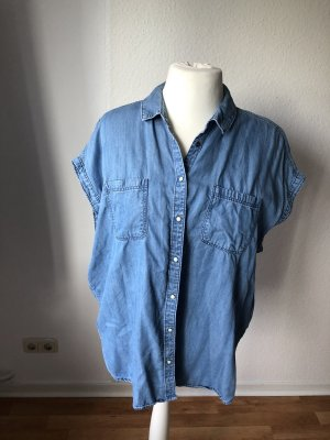Yessica Blouse en jean bleu-bleu clair