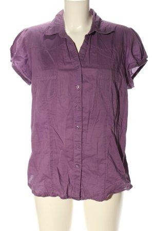 Yessica Camisa de manga corta lila look casual