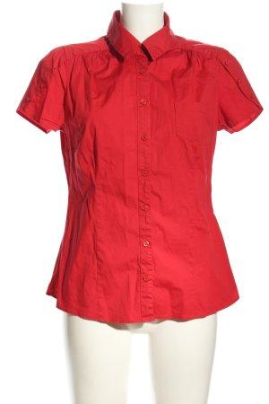 Yessica Camisa de manga corta rojo look casual