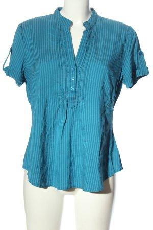 Yessica Camicia a maniche corte blu motivo a righe stile casual