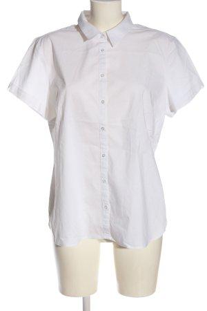 Yessica Chemise à manches courtes blanc élégant
