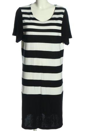 Yessica Kurzarmkleid schwarz-weiß Streifenmuster Casual-Look