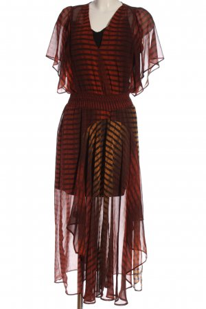 Yessica Vestido de manga corta degradado de color elegante