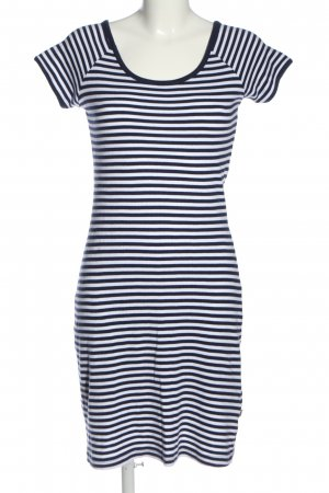 Yessica Kurzarmkleid blau-weiß Streifenmuster Casual-Look
