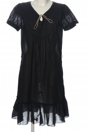 Yessica Kurzarmkleid schwarz Elegant