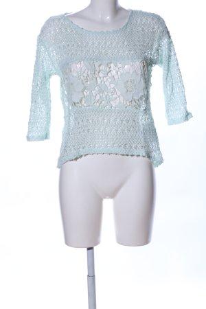 Yessica Kurzarmpullover türkis Street-Fashion-Look