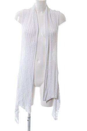 Yessica Cárdigan de manga corta blanco look casual