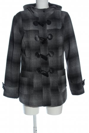 Yessica Cappotto corto nero-grigio chiaro motivo a quadri stile casual