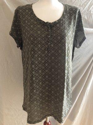 Yessica L T-Shirt Khakifarben Muster Casual-Look