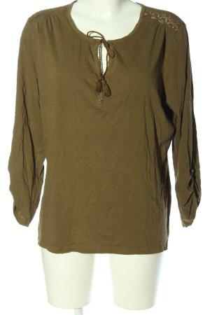 Yessica Langarm-Bluse braun Casual-Look