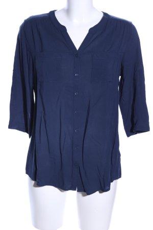 Yessica Langarm-Bluse blau Business-Look