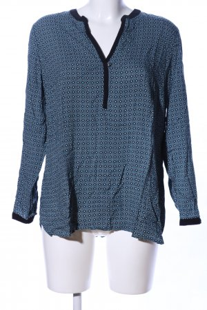 Yessica Langarm-Bluse Allover-Druck Casual-Look