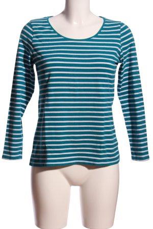 Yessica Langarm-Bluse blau-weiß Streifenmuster Casual-Look