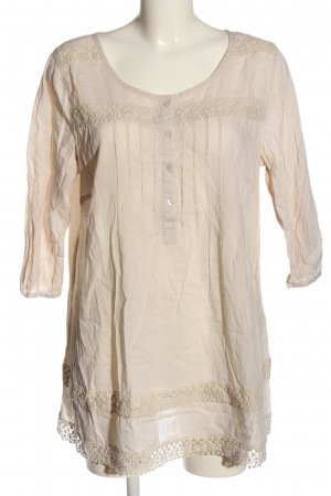 Yessica Langarm-Bluse creme Business-Look