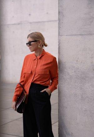 Yessica Langarm-Bluse hellorange Casual-Look