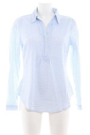 Yessica Langarm-Bluse weiß-hellblau Streifenmuster Business-Look