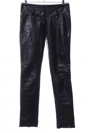 Yessica Leather Trousers black wet-look