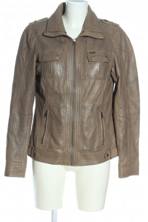 Yessica Leather Jacket brown casual look