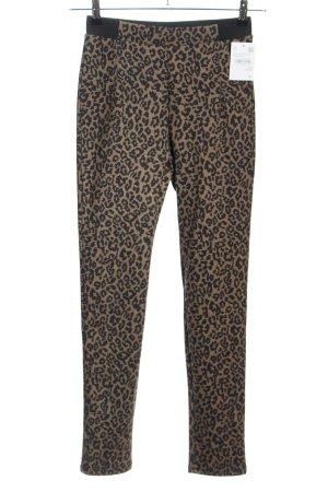 Yessica Leggings brown-black allover print casual look