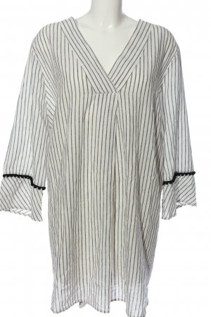 Yessica Linen Blouse white-light grey striped pattern casual look