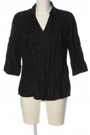 Yessica Linen Blouse black casual look