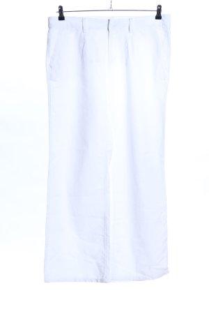 Yessica Pantalone di lino bianco stile casual