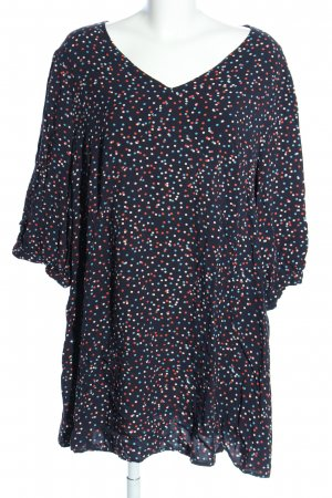Yessica Long-Bluse Punktemuster Casual-Look