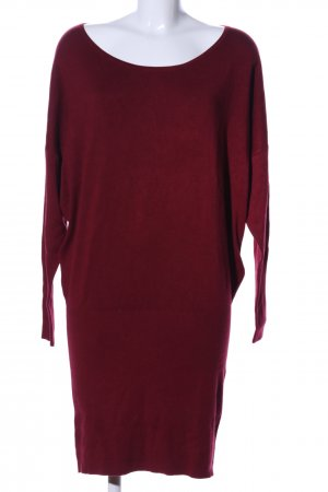 Yessica Robe en maille tricotées rouge style décontracté